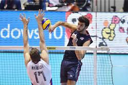 دیدار تیم های ملی والیبال آمریکا و روسیه