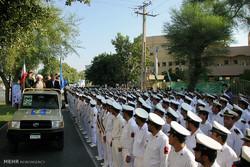 مراسم رژه نیروهای مسلح در بوشهر