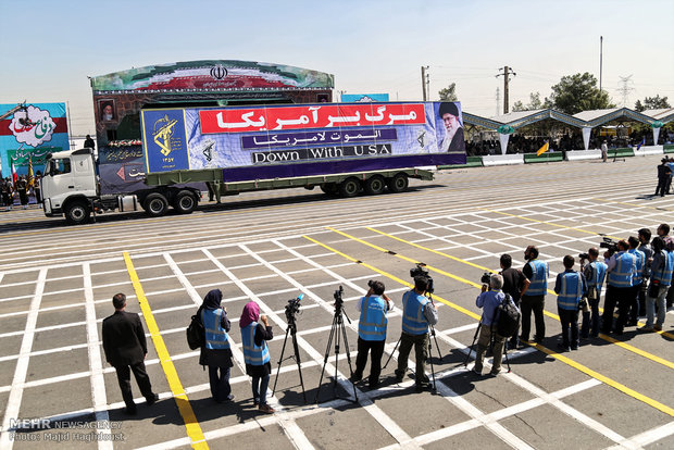 الاستعراض العسكري للقوات المسلحة الايرانية
