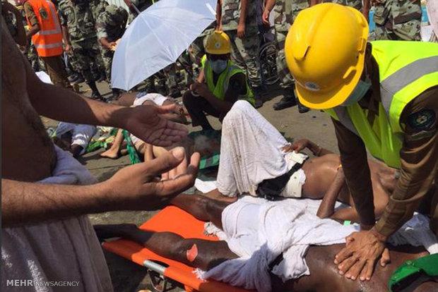 لیست مجروحین حادثه جمرات تا ساعت ۲۰ روز جمعه