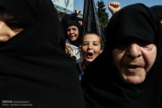 Tahran halkından Mina faciasına kınama