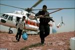 استقرار دو فروند بالگرد امدادی در شلوغ ترین مرز ایران