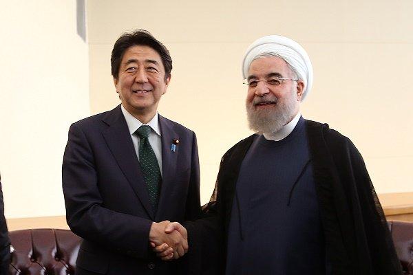 ایرانی  صدر سے جاپانی وزیر اعظم کی ملاقات