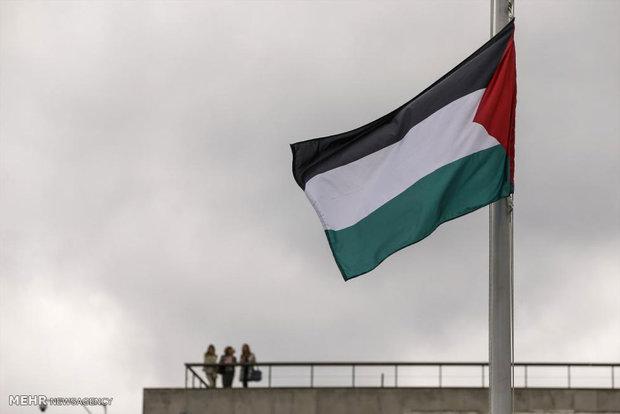اهتزاز پرچم فلسطین در سازمان ملل