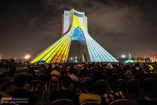 کنسرت نور در برج آزادی