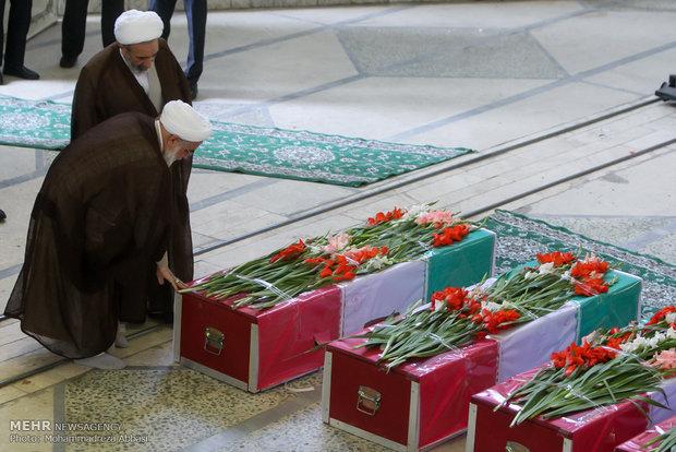مراسم تشییع پیکر جانباختگان حادثه منا
