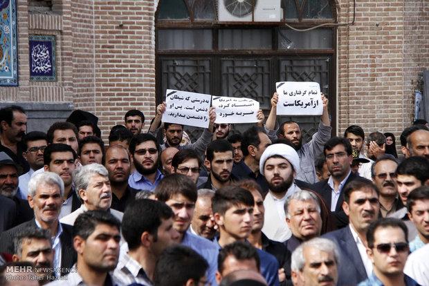 تجمع وارثان قیام ۱۵ خرداد در محکومیت حادثه منا
