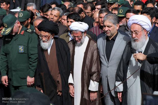 تشییع پیکر جانباختگان فاجعه منا در تبریز