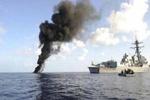 کشتی جنگی آلسعود هدف حمله موشکی و راکتی یمنی ها قرار گرفت