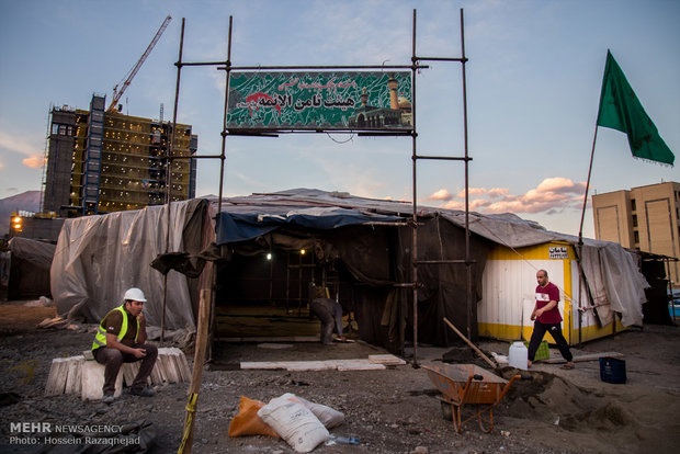 آماده سازی تکایای حسینی در آستانه فرا رسیدن ایام محرم