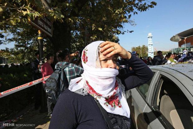 انفجار دو بمب در تجمع طرفداران احزاب کرد و فعالان چپ گرا در آنکارا پایتخت ترکیه