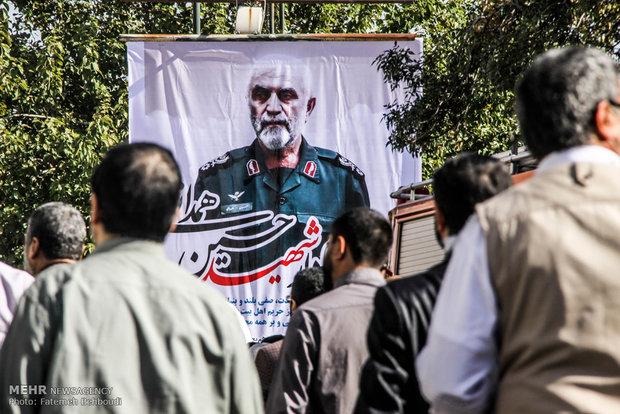 تشییع پیکر شهید سردار شهید حسین همدانی -2