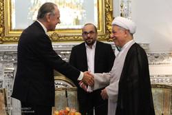 دیدار آیت الله هاشمی رفسنجانی با قائم مقام دبیر کل سازمان ملل متحد