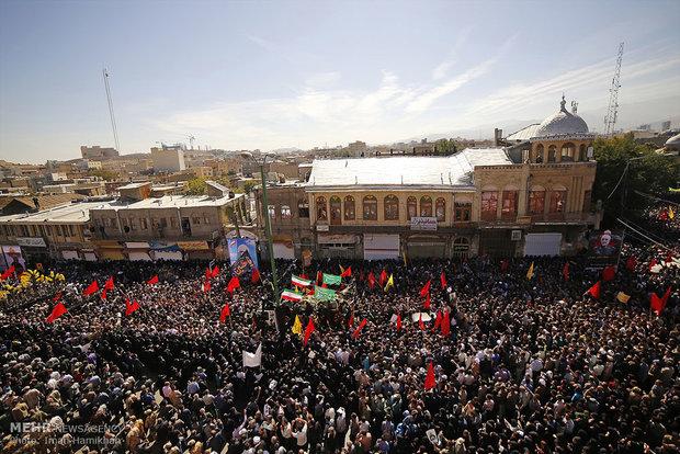 مراسم تشییع شهید سرلشگر حاج حسین همدانی