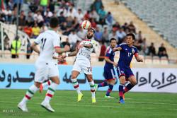 دیدار تدارکاتی تیم های ملی فوتبال ایران و ژاپن