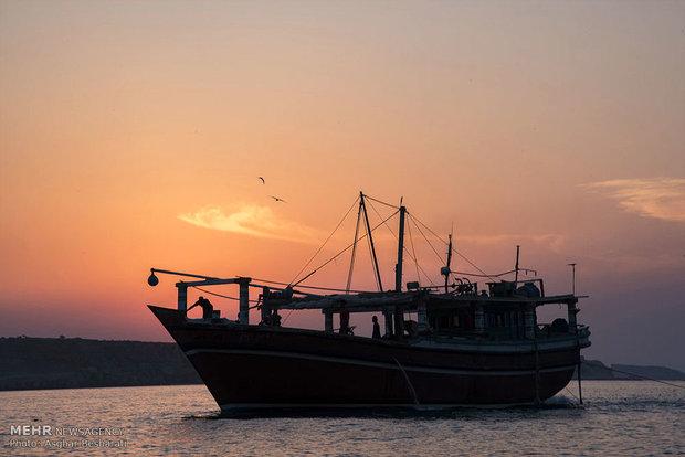 صيد الروبيان في جزيرة قشم الايرانية