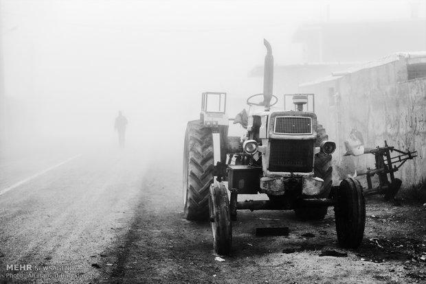 Sisle kaplanmış Arasbaran köyü