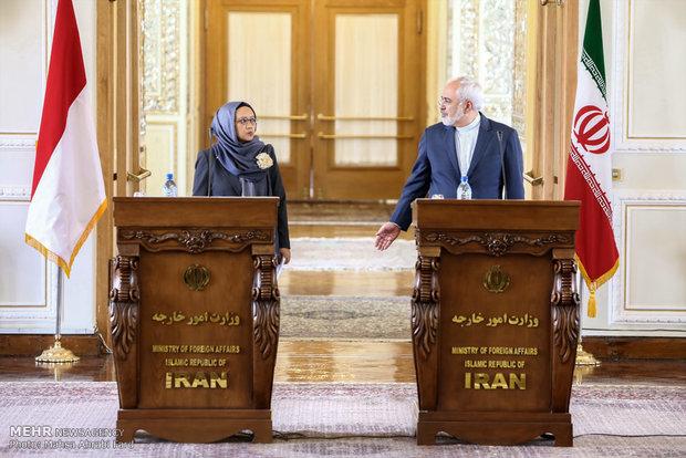 دیدار وزرای امور خارجه ایران و اندونزی