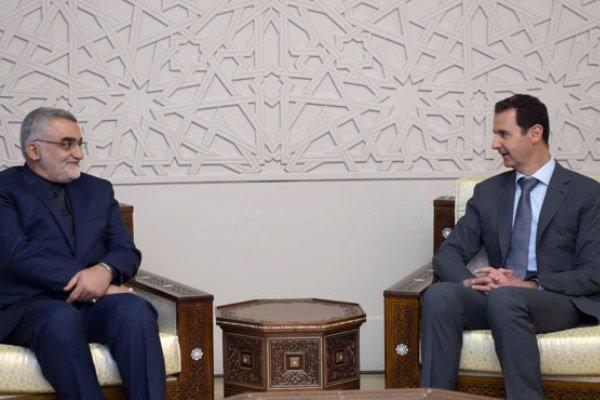 بروجردي يؤكد للاسد دعم ايران لسوريا في محاربة الارهاب