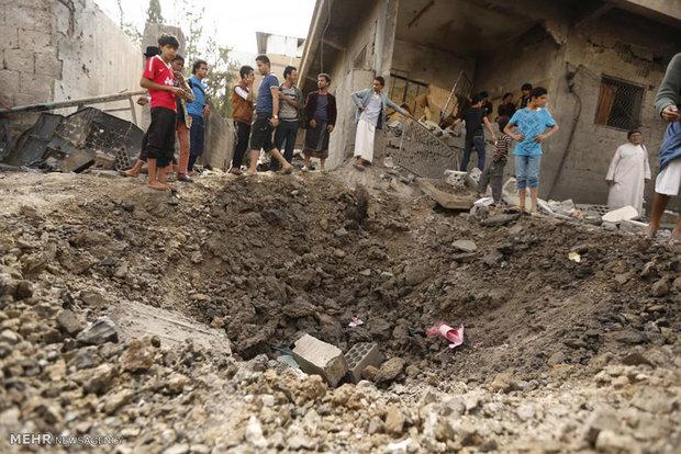 عشرات الشهداء والجرحى في غارات للعدوان السعودي الامريكي استهدفت سوقا بتعز
