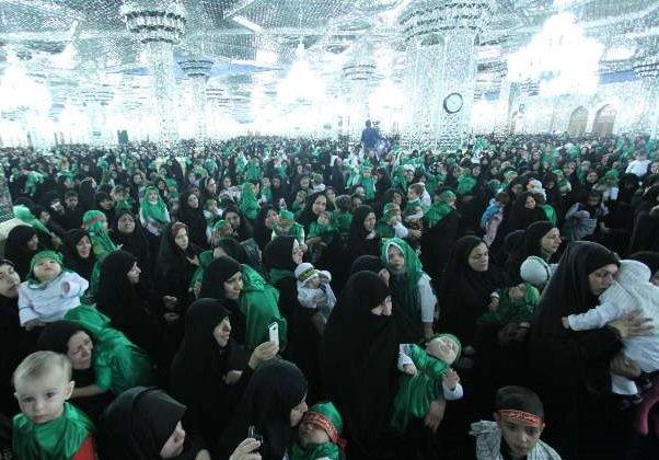 همایش عظیم شیرخوارگان حسینی در حرم مطهر رضوی برگزار شد
