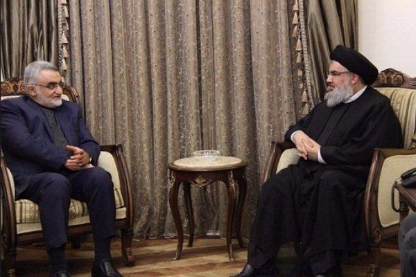 رئيس لجنة الامن القومي يلتقي ببيروت مع الامين العام لحزب الله