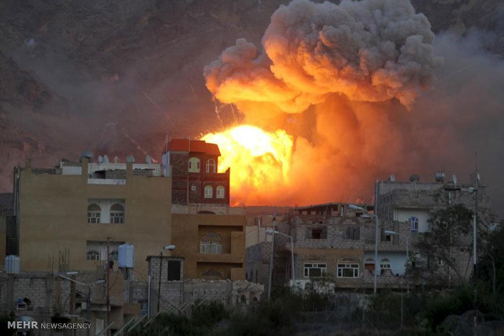 بمباران در شب