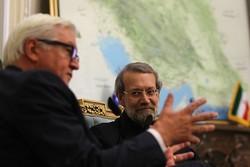 دیدار لاریجانی با وزیر خارجه آلمان