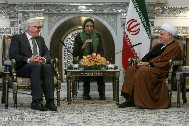 Rafsanjani, Steinmeier meet in Tehran