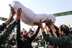 تشییع دو شهید گمنام در دانشکده شهید مطهری