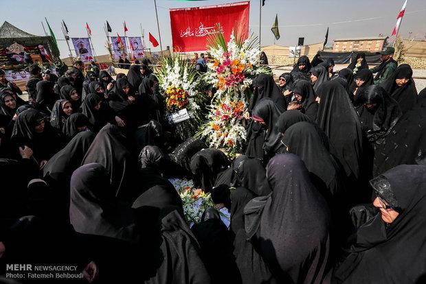 شہید مطہری یونیورسٹی میں دوگمنام شہیدوں کی تشییع جنازہ
