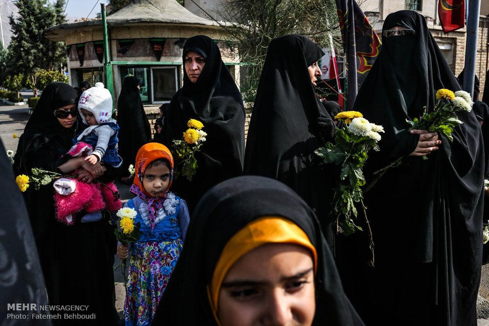 مراسم تشییع دو شهید گمنام در دانشکده شهید مطهری