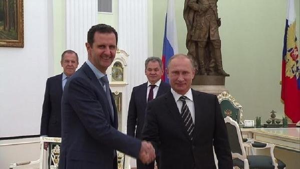 الاسد يجري مباحثات مع بوتين في موسكو