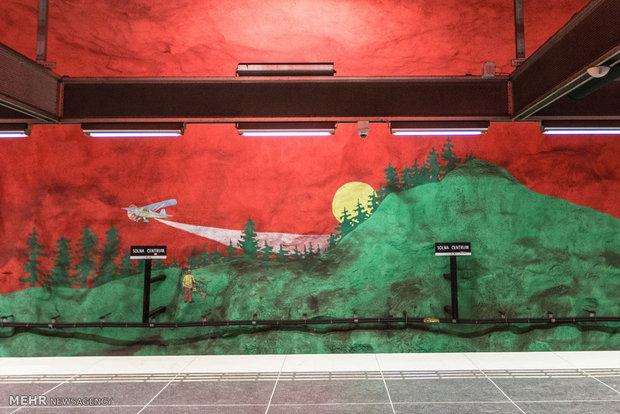 Stokholm Metro İstasyonları
