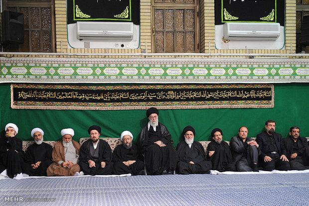 رہبر انقلاب اسلامی کی موجودگی میں مجلس عزاء نواسہ رسول(ص) کا انعقاد