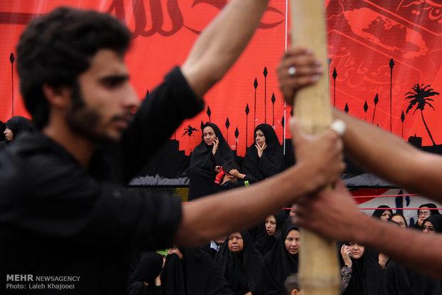 اجتماع عزاداران حسینی در شهرستان بم