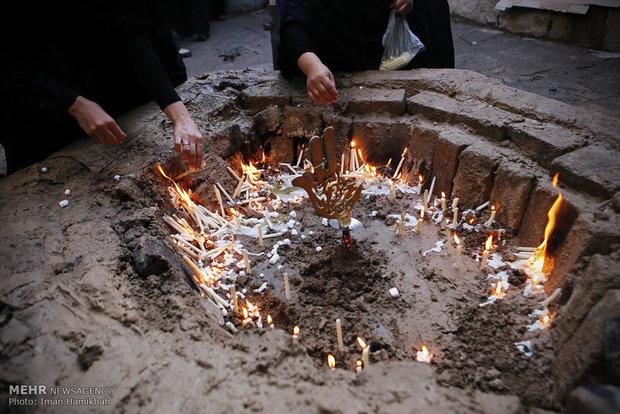 چهلمنبری؛ آئین عشق و حاجت/ شمع باران حزن و حاجت در تاسوعا