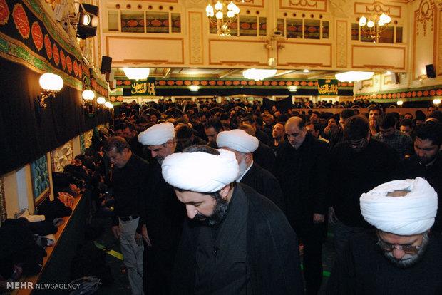 مراسم سوگواری شب و روز عاشورا در مرکز اسلامی انگليس