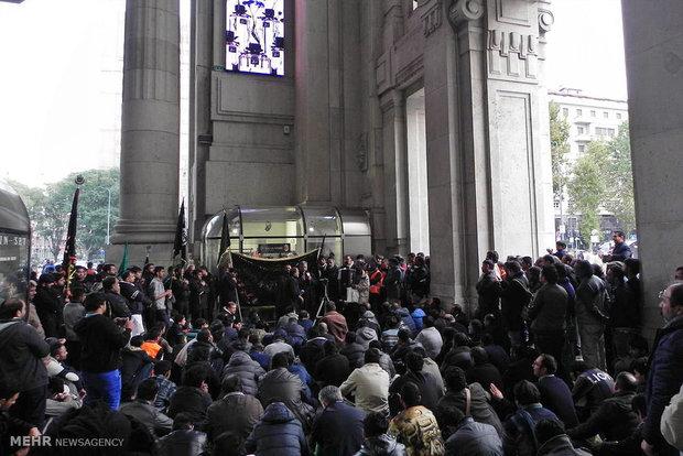 عزاداری و اقامه نماز ظهر عاشورا در میلان ایتالیا