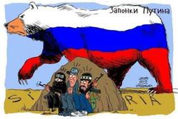 کارٹون / شام میں روس اور امریکہ کا مقابلہ