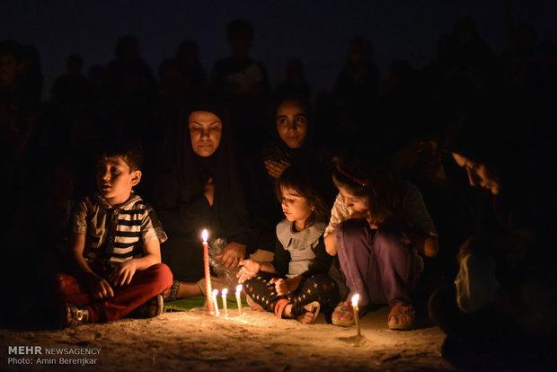آئین عزاداری شام غریبان در لامرد فارس