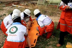 امدادگران ۱۶ استان در روز دوم رفاقت مهر با یکدیگر رقابت کردند