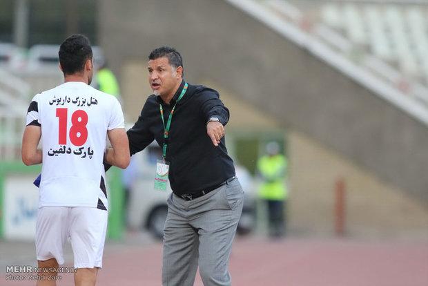 دیدار تیم های فوتبال سایپای تهران و صبای قم