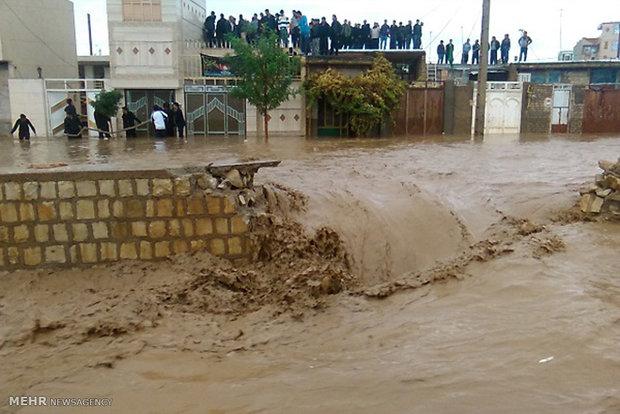 وقوع سیلاب در کوهدشت استان لرستان