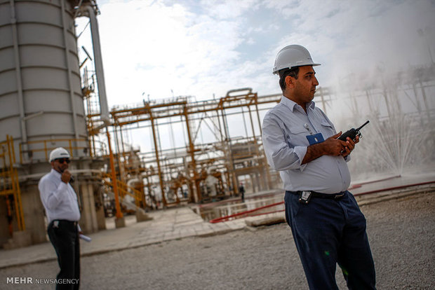 شیرین سازی ٥٦ میلیون متر مکعب گاز در پالایشگاه فاز ١٣ پارس جنوبی