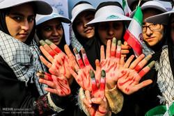 """مسيرة """"مقارعة الاستكبار"""" في طهران"""
