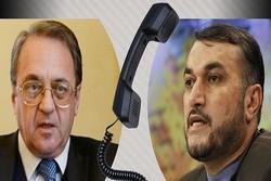 اميرعبداللهيان يبحث مع بوغدانوف الازمة السورية