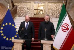 یورپی پارلیمان کے سربراہ کی ایران کے اسپیکر پارلیمنٹ سے ملاقات