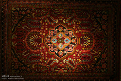 Exhibition of tribal hand-woven rugs in Arak