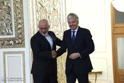 لقاء وزير الخارجية الايراني نظيره البلجيكي